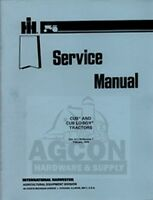 International Harvester Farmall Cub Cub Lo-Boy Tractor Service Shop Manual IH