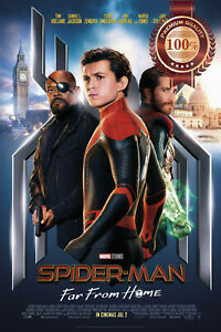 SPIDER-MAN FAR FROM HOME OFFICIAL ORIGINAL CINEMA MOVIE PRINT PREMIUM POSTER