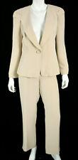 GIORGIO ARMANI Limited Edition Nude Beige 100% Silk Crepe Pant Suit 44