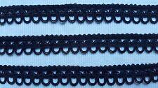 Begrenzt: uralte reine SEIDEN Silk Posamenten Borte Schwarz 20mm vor 1900  Nr.3