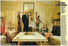 Coupure de presse Clipping 1988 (8 pages) Jean Marie Le Pen l'outsider