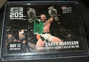 2016 TOPPS NOW CONOR MCGREGOR SP UFC 205-A. 2 TITLE CHAMPION ONLY 474