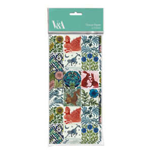 V&A William De Morgan Tiles Pack of 4 Sheets of Tissue Paper