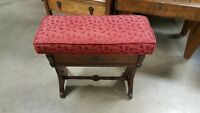antique cushioned vanity bench