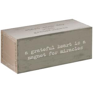 "GRATEFUL Heartfelt Block Inspirational Sign, 5"" x 2"", by Carson"