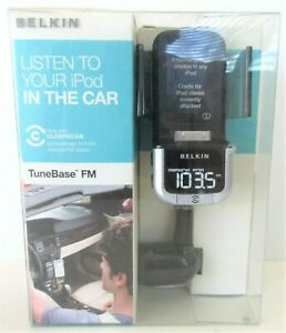 Belkin Tune Base FM Transmit iPod Holder Charger Player Car Auto Compatible New