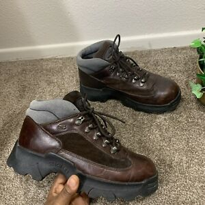 Vintage 90's Y2K Skechers Jammers Chunky Platform Lace Up Sneakers Shoes Boots 8