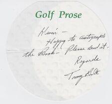 TOMMY BOLT PGA HOF GOLF PRO SIGNED NOTE 1958 US OPEN WINNER D 2008 JSA