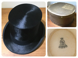 Gentleman's Black Silk Top Hat By Battersby & Co London - Boxed 1930's - VGC