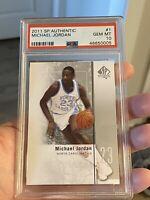 2011 SP Authentic #1 Michael Jordan PSA Gem Mint 10 - North Carolina Tarheels