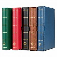 Coin Currency Stamp Album 4 Rings Quality Binder + Slipcase Lighthouse Vario RED
