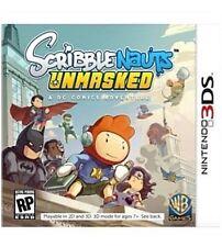 Scribblenauts Unmasked: A DC Comics Adventure (Nintendo 3DS, 2013) Complete