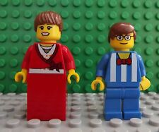 2 Brand New Lego Mini Figures Nutty Professor Lecturer & Ball Gown Girlfriend 02