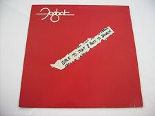 FOGHAT - GIRLS TO CHAT & BOYS TO BOUNCE - LP VINYL 1981 U.S.A. EXCELLENT