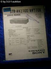 Sony Service Manual STR AV270X /AV370X FM/AM Receiver (#5222)