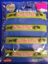 Go, Diego, Go! Nick Jr Cartoon Birthday Party Favor Bracelets Rubber Wristbands