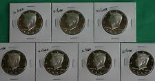 1992 - 1998 SILVER Proof Kennedy Half Dollar Set 7 Coin Collection Silver Halves