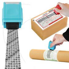 Roller Identity Stamp Seal Code Self ID Inking Stock Guard For Theft Protection