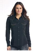 Panhandle Slim Women's Black Snap Up Western Shirt R4S2159