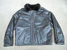 Vtg Wilsons Black Leather Pilot Flight Aviation Bomber Men's Jacket Coat Size LG