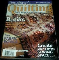 Fons & Porter's Love Of Quilting Magazine Mar/April 2007 ~Split Nine Patch Quilt