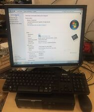 Dell D04S 4GB RAM 250GB CPU 3.10GHz Win7 Pro with monitor keyboard mouse