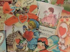 Lot of 12 VICTORIAN & VINTAGE VALENTINES DAY DIE CUTS 4 Crafts | FREE SHIP V6