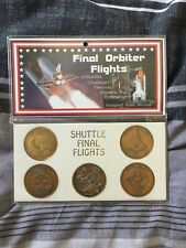 nasa space shuttle Coins For Last Shuttle Flights Antiqued Solid Bronze Coins