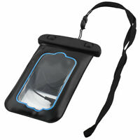 Plastic Dust Proof Universal Outdoor Phone Water Resistant Bag Black w Arm Band