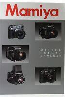 Zeitschrift Mamiya Mittelformatkameras Broschüre
