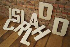 """Vintage Metall Buchstabe """"L"""" shabby chic Loft Deko Metal Letter 50er Reklame"""