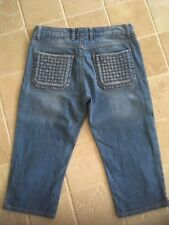 WOMENS, JUST JEANS MISS CALIFORNIA 3/4 SHORTS/CAPRIS  SIZE 10 , PALE BLUE,  #563