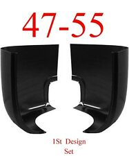 47 55 Chevy GMC Cab Corner Set, 1st Design, Truck 0846-115, 0846-116