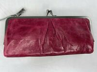 Hobo International Vera Clutch Leather Wallet in Merlot