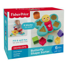 Fisher Price Butterfly Shape Sorter Develops Problem Solving Toy for Babies