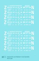 K4 HO Decals Zanesville and Western Coal Gondola White