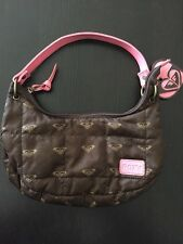 ROXY Brown W/pink - Small Purse Bag - ROXY LOGO Awesome HEARTS & HEARTS