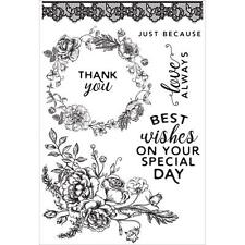 Sage & Grace Collection Clear Unmounted Rubber Stamp Set Kaisercraft CS300 New