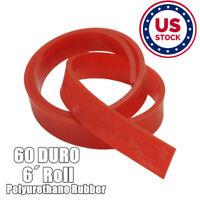80 Duro Durometer Aluminum Handle Screen Printing Squeegee Blade 6, 60 Duro Red 60//70