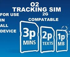 2G Sim Card for GPS Tracker Tracking GSM Devices 2p per Text 1p per MB O2 PAYG