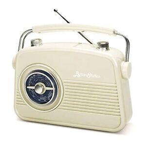 Byron Statics Portable Radio AM FM Vintage Retro Radio with Built in Speakers...