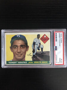 Sandy Koufax 1955 Topps #123 RC * PSA 2 * CENTERED * New PSA Label