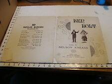 Vintage sheet music: BEN BOLT by Nelson Kneass