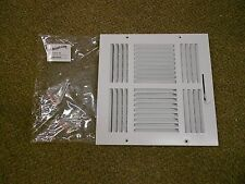 PREMIER AIRE 4SW 10X10 4 WAY WHITE CEILING VENT SIDEWALL REGISTER *NEW*