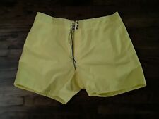 Vintage Birdwell Beach Britches Lace Front  Yellow Trunks