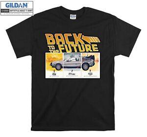 Back To The Future T-shirt Logo Print Car T shirt Men Women Unisex Tshirt 3513