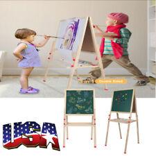 Child Kids Paint & Drawing Art Easel Chalk Chalkboard w/ Large Erase Board
