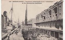 B81864 buenos aires argentina pasaheros el atlantique ship front/back image