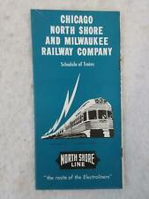 CHICAGO NORTH SHORE AND MILWAUKEE RAILWAY COMPANY Schedule of Trains #56 1953