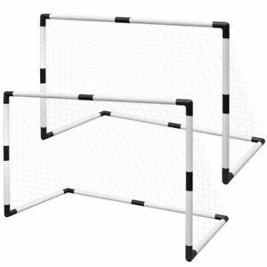 vidaXL 2x Mini Fußballtor Fußball Tor + Tornetz Set für Kinder 91,5 x 48 x 61 cm